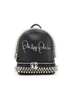 Philipp Plein studded logo plaque backpack
