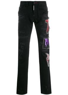 Philipp Plein studded straight-leg jeans