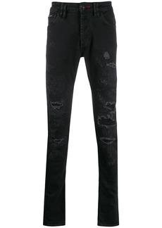 Philipp Plein Super Straight Cut Rock denim jeans