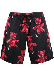 Philipp Plein Teddy-print swim shorts