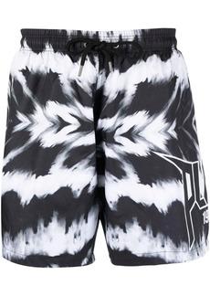 Philipp Plein tie-dye print swim shorts
