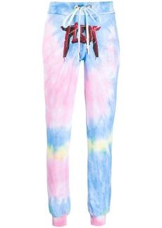 Philipp Plein Unicorn tie-dye track pants