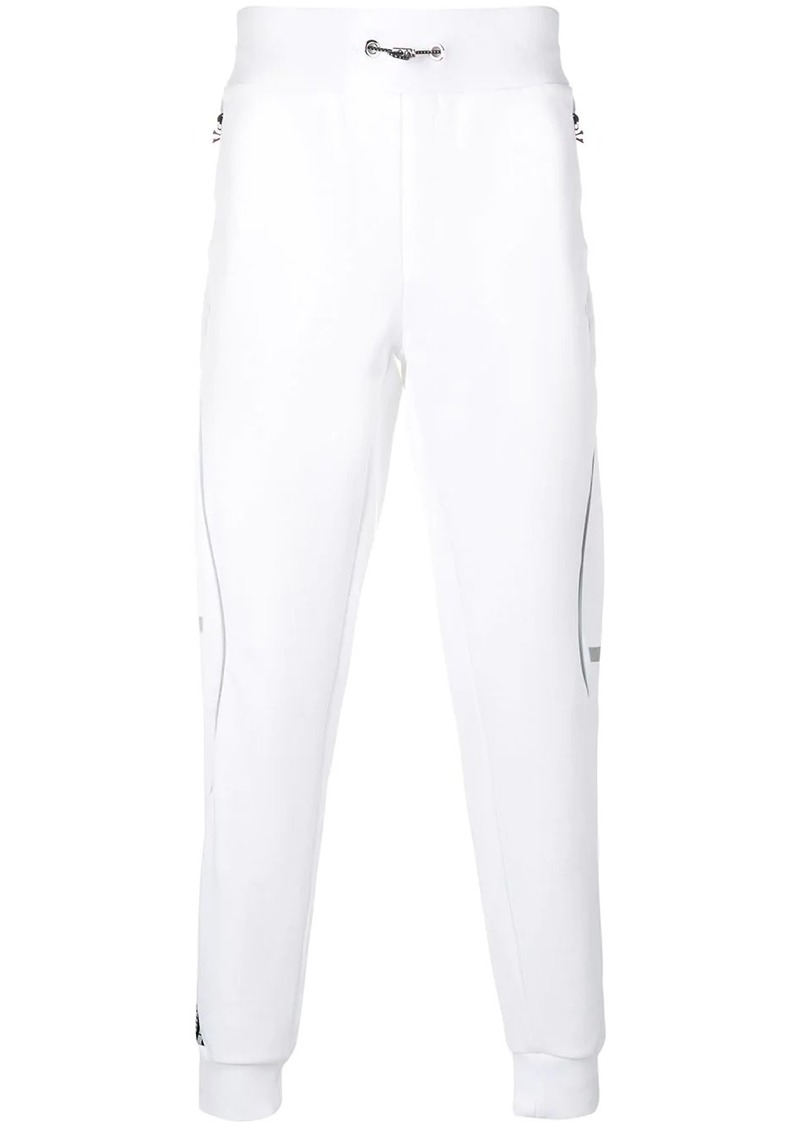 Philipp Plein white logo track pants