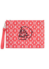 Philipp Plein zipped logo print clutch bag