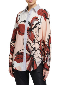 Piazza Sempione Eugenia Abstract Floral-Print Long Tunic