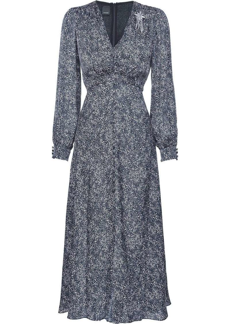 Pinko abstract print long dress