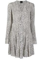 Pinko abstract print ruffle dress