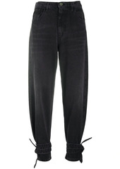 Pinko ankle-tie tapered jeans