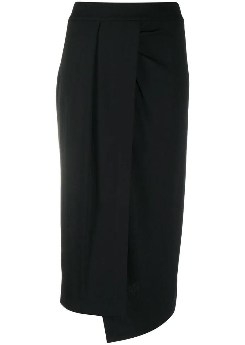 Pinko asymmetric high-waisted skirt