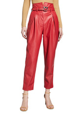 Pinko Aurelio Belted Faux Leather Pant