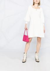 Pinko balloon-sleeve knitted skater dress