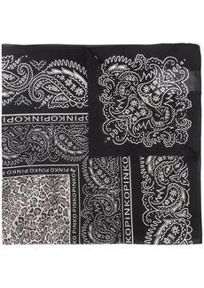 Pinko bandana-print square-shape scarf