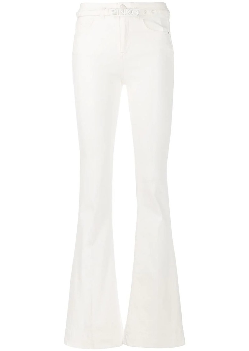 Pinko belted bootcut jeans