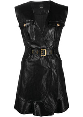 Pinko belted coated dress