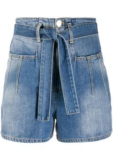 Pinko belted denim shorts