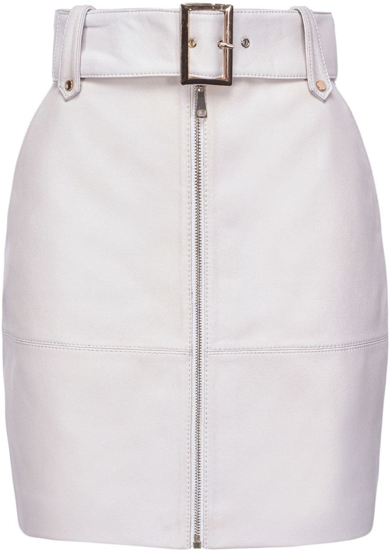 Pinko belted fitted skirt