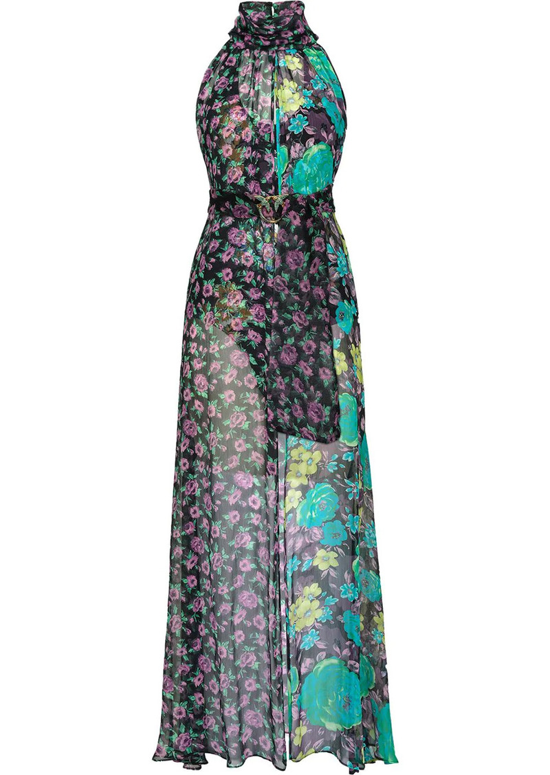 Pinko belted floral dress