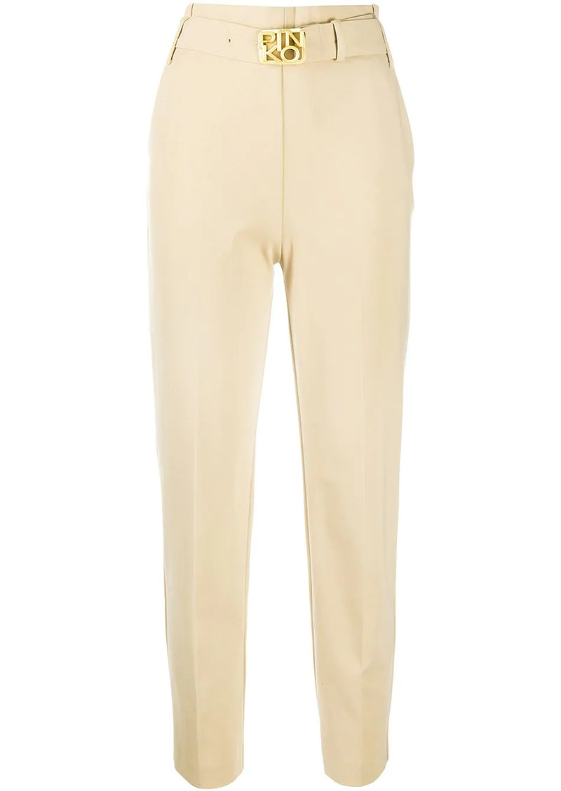 Pinko belted high-waisted trousers