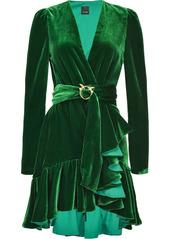 Pinko belted ruffled dress