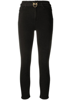 Pinko belted skinny jeans