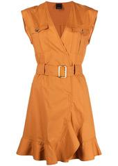 Pinko belted sleeveless dress