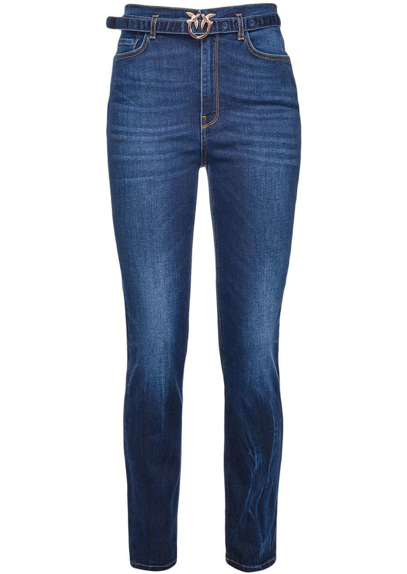 Pinko belted slim-fit jeans