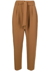Pinko belted waist tapered trousers