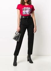 Pinko bird print straight jeans