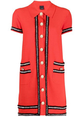 Pinko buttoned-up knitted dress