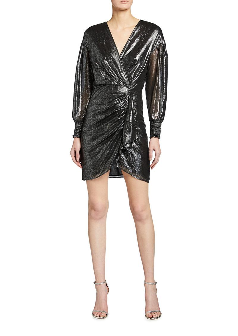 Pinko Cachaca 2 Printed Faux Wrap Dress