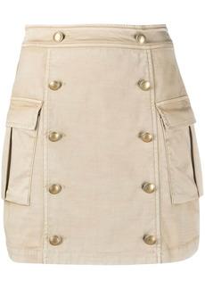 Pinko cargo-pocket mini skirt