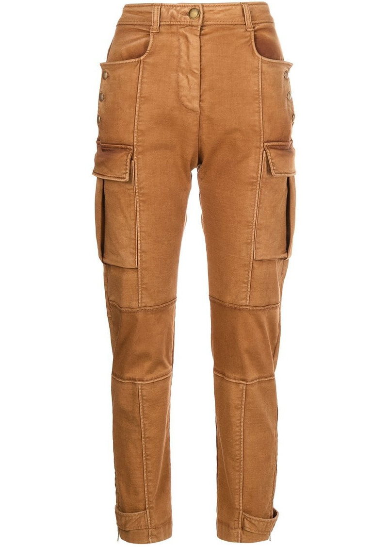 Pinko cargo-style slim-fit trousers
