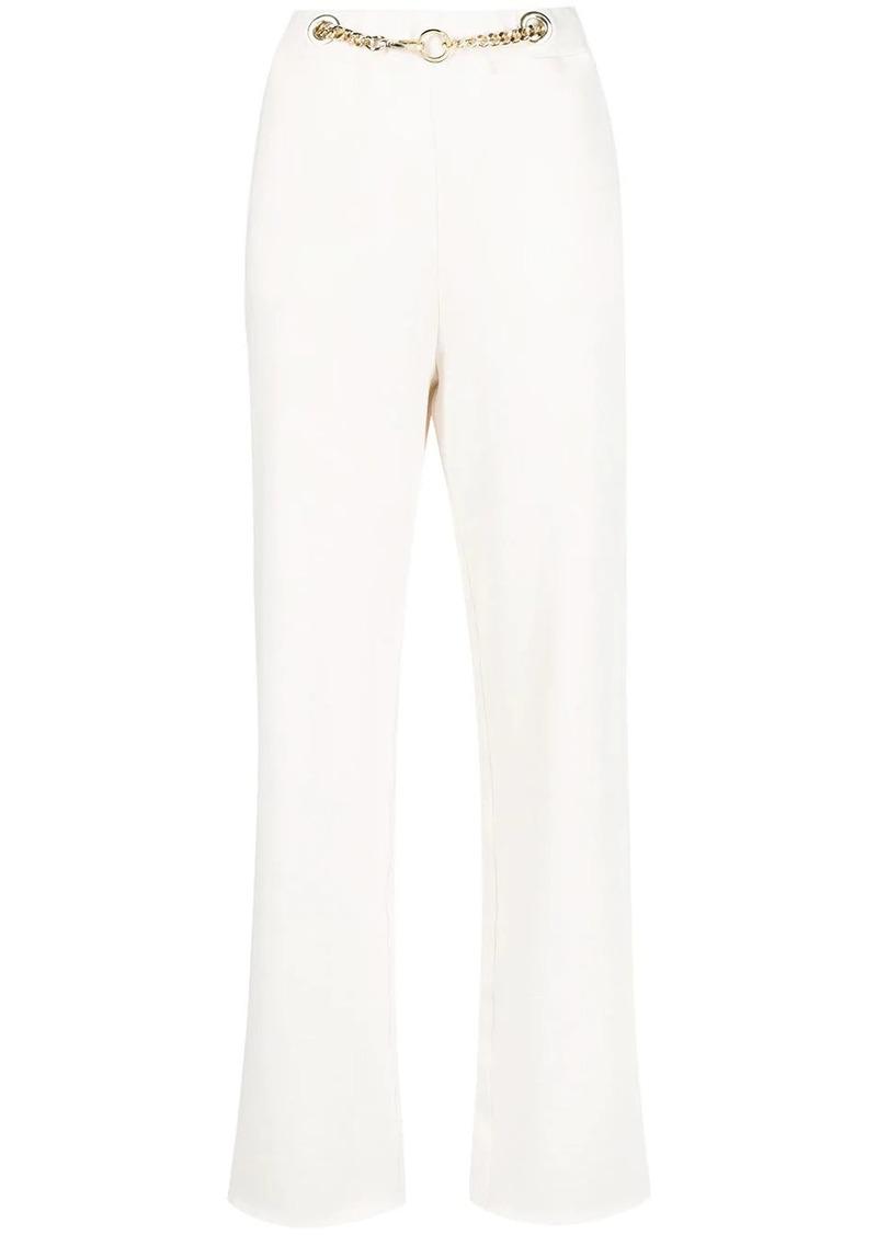 Pinko chain-embellished track pants