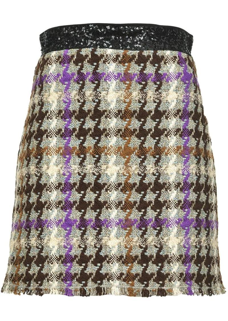 Pinko check print skirt