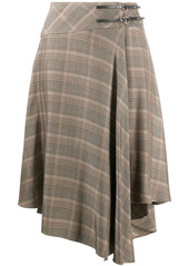 Pinko checked asymmetric skirt