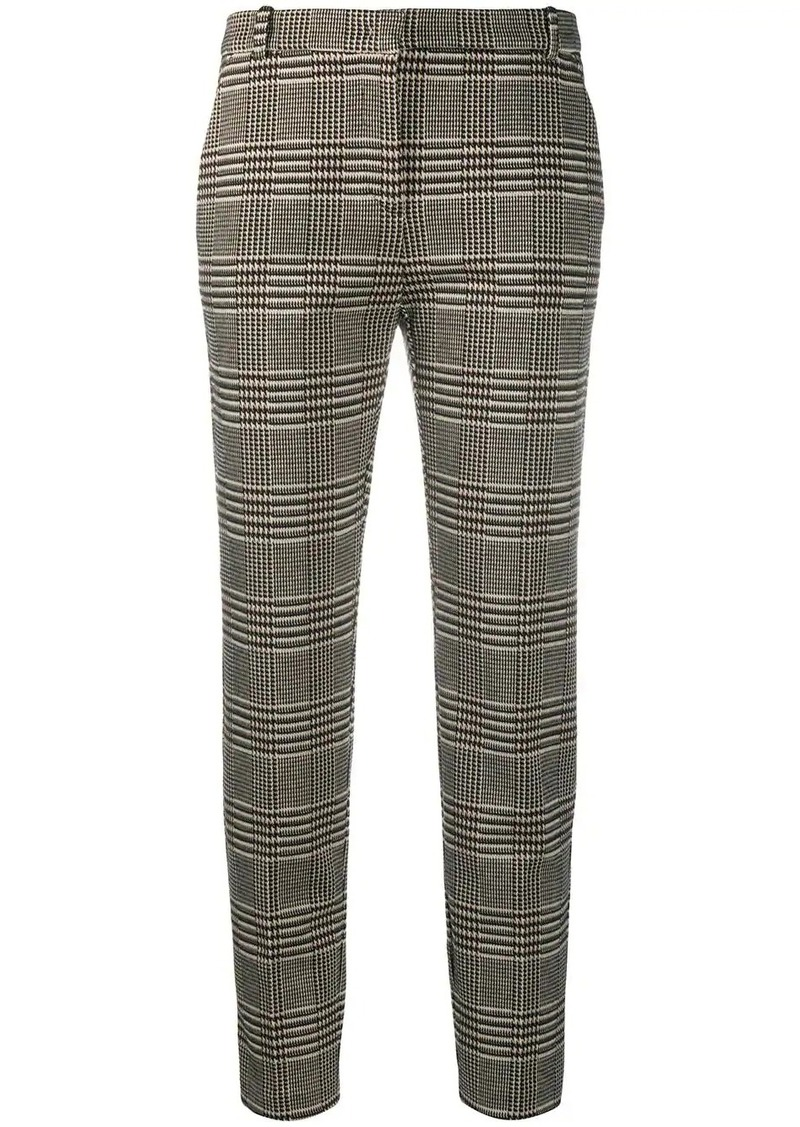 Pinko checked slim straight trousers