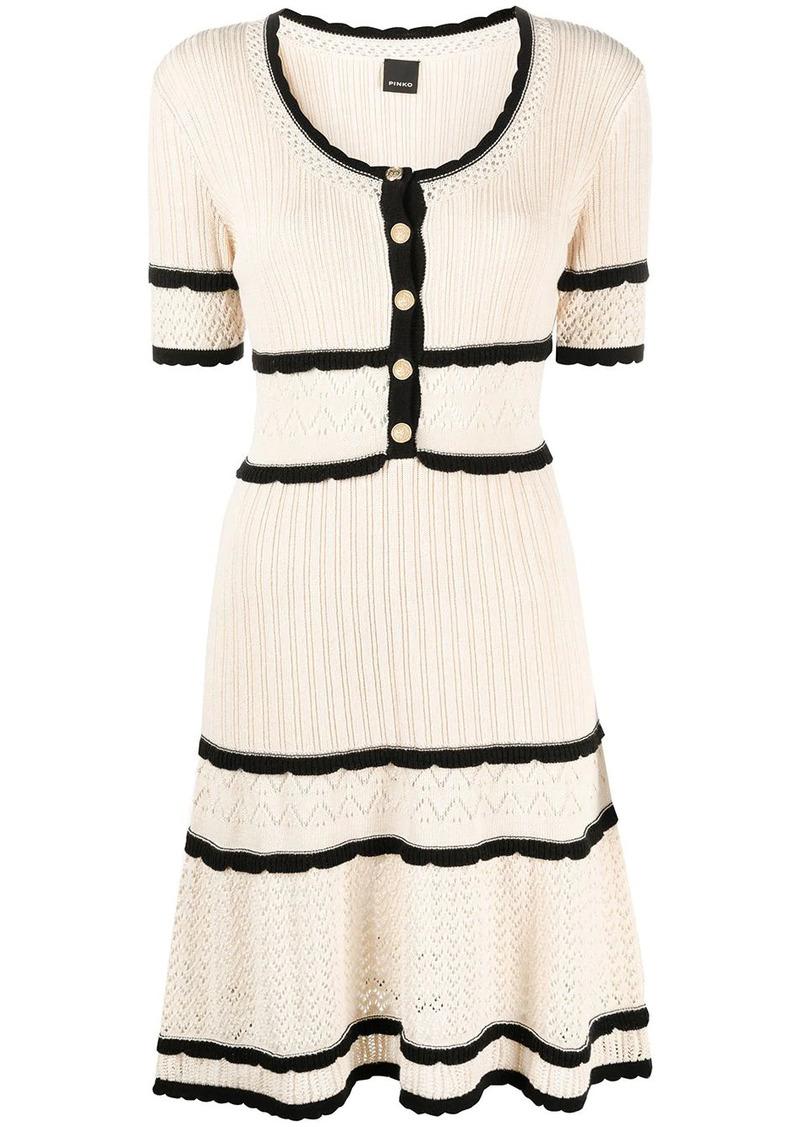 Pinko contrast short-sleeve dress