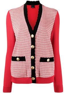 Pinko contrast-trim cardigan