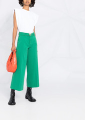 Pinko cropped flared trousers