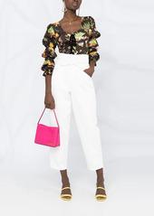 Pinko cropped high-waist jeans