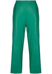 Pinko cropped lambskin trousers