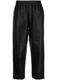 Pinko cropped leather trousers