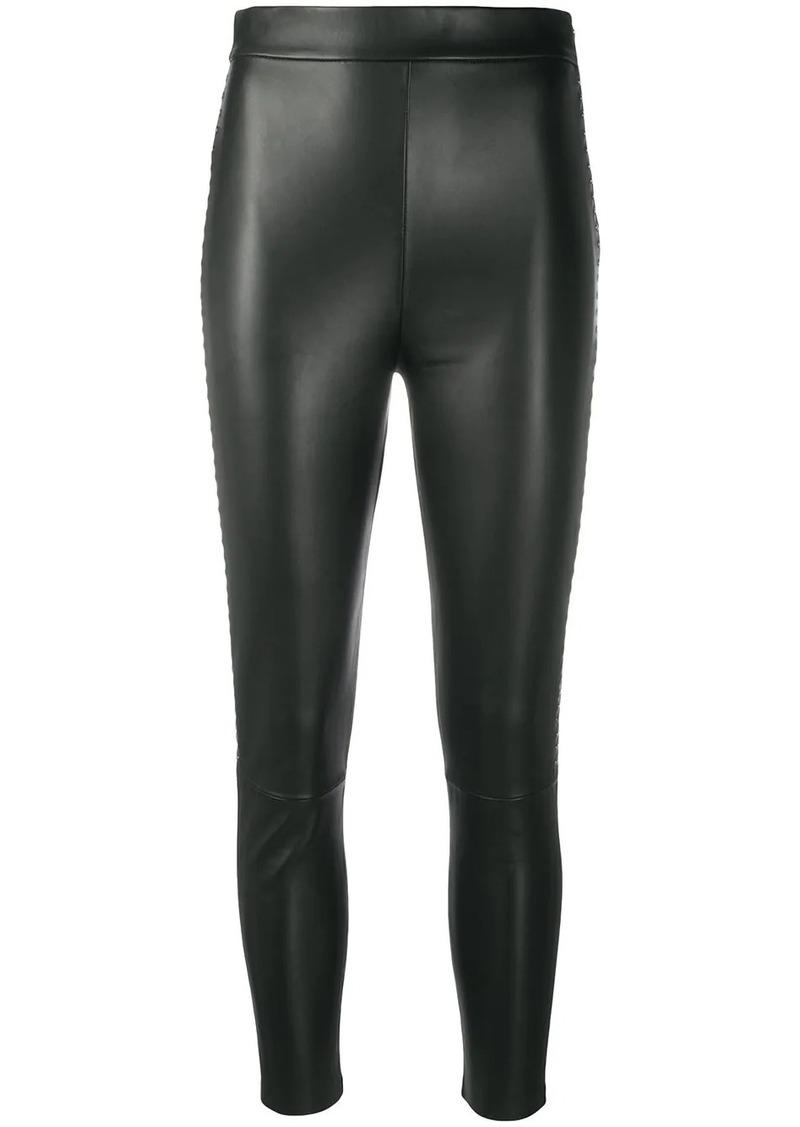 Pinko cropped stud-detail leggings