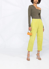 Pinko cropped suede trousers