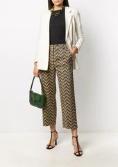 Pinko cropped zigzag print trousers