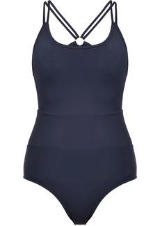 Pinko crossover-strap swim suit