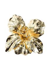 Pinko crystal-embellished flower brooche