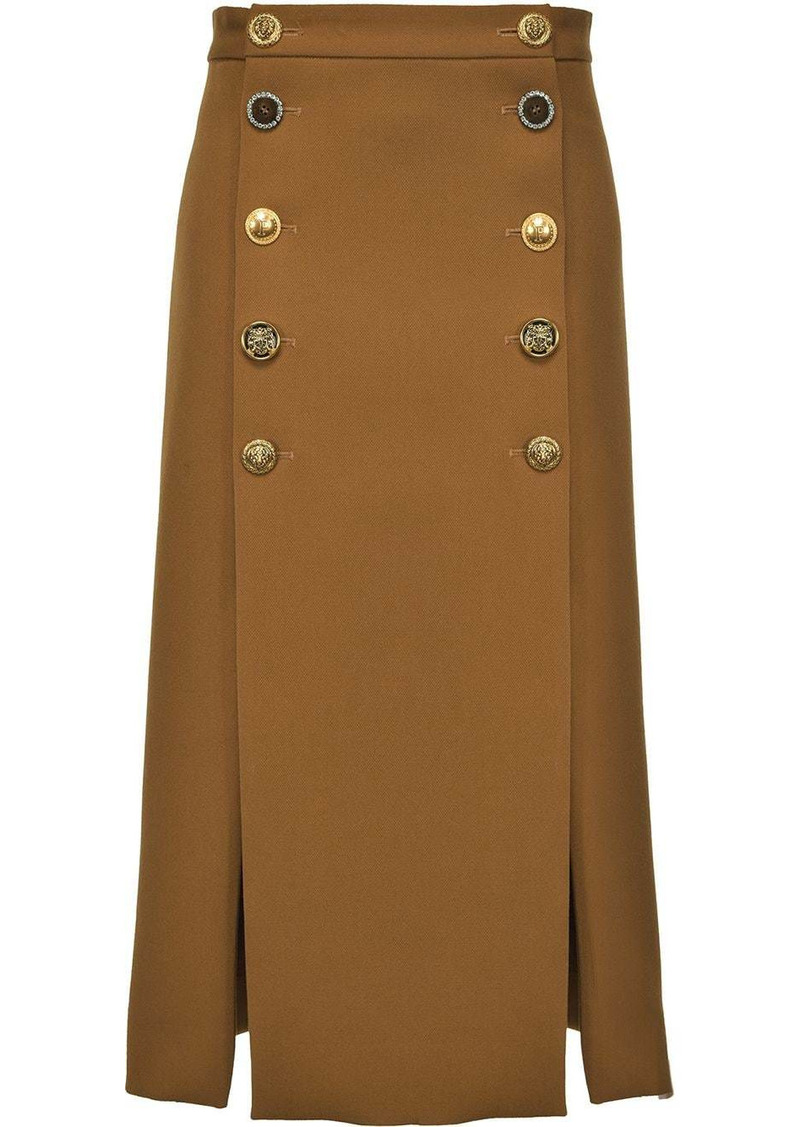 Pinko decorative buttoned skirt