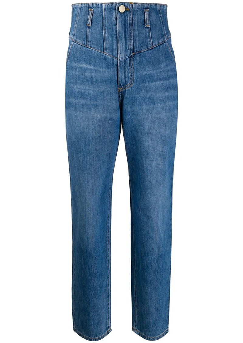 Pinko denim high waisted tapered jeans