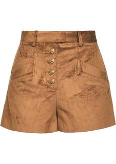 Pinko distressed corduroy shorts